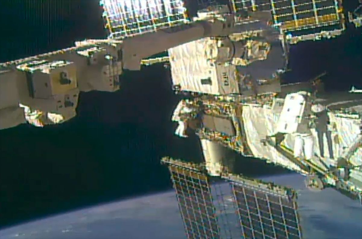 Spacewalkers complete penultimate set of battery upgrades for space station